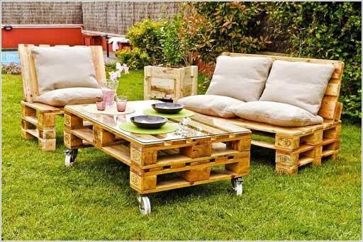 bàn ghế pallet gỗ