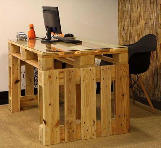 bàn gỗ pallet làm việc