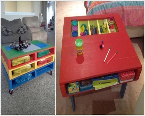 bàn học gỗ pallet cho bé