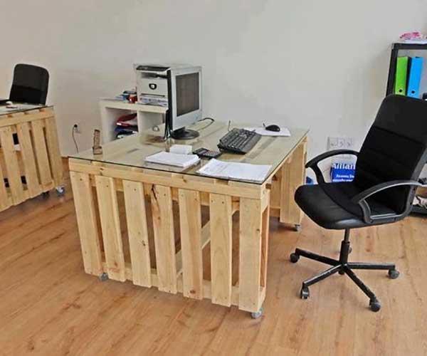 bàn làm việc pallet gỗ