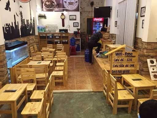 cafe pallet gỗ