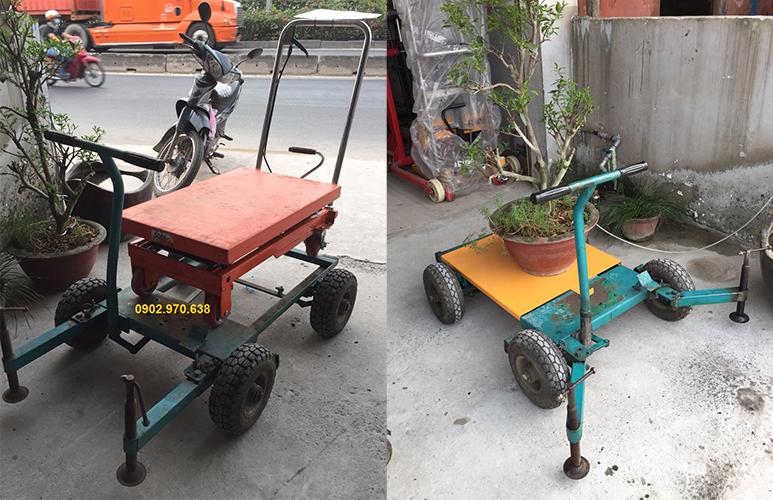 thuê xe nâng dùng di chuyển chậu cây