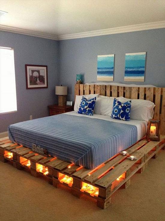 Pallet gỗ làm giường ngủ