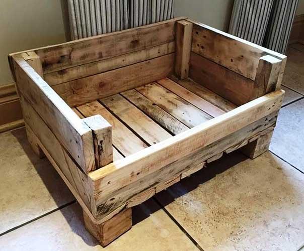 giường pallet gỗ thú cưng