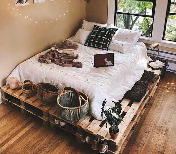 nội thất giường pallet