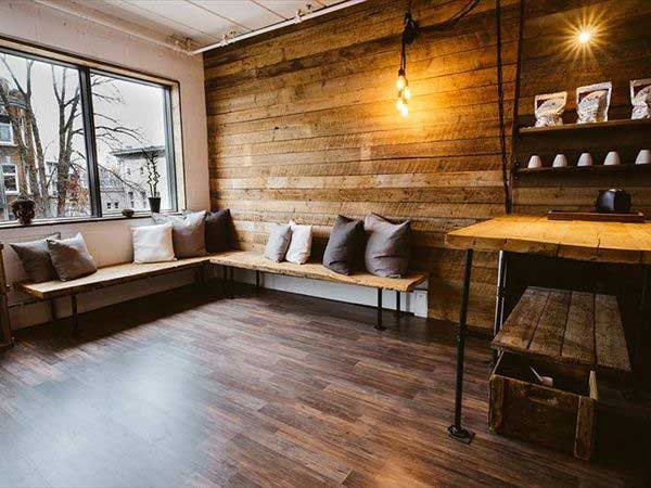 pallet gỗ ốp tường
