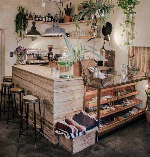 quầy bar gỗ pallet