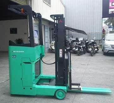 xe nâng điện đứng lái mitsubishi 1 tấn nhập khẩu